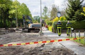 Gasleiding geraakt tijdens graafwerkzaamheden aan Zundertseweg in Roosendaal