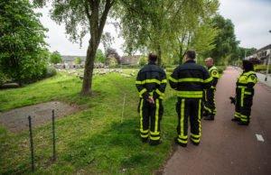 Brandweer redt schaap uit water in Roosendaal