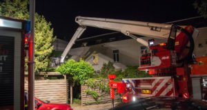 Schuur aan Brugstraat in Roosendaal zwaar beschadigd door brand