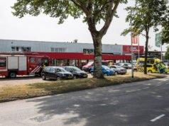 Bouwmaterialenhandel Raab Karcher ontruimd na vreemde lucht