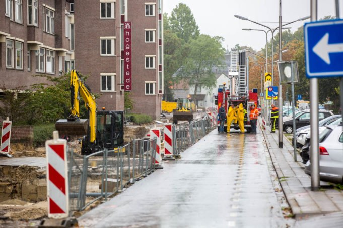 Gaslek tijdens werkzaamheden aan Kloosterstraat in Roosendaal