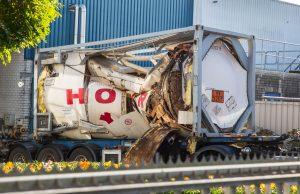 Tankwagen ontploft bij bedrijf in Roosendaal