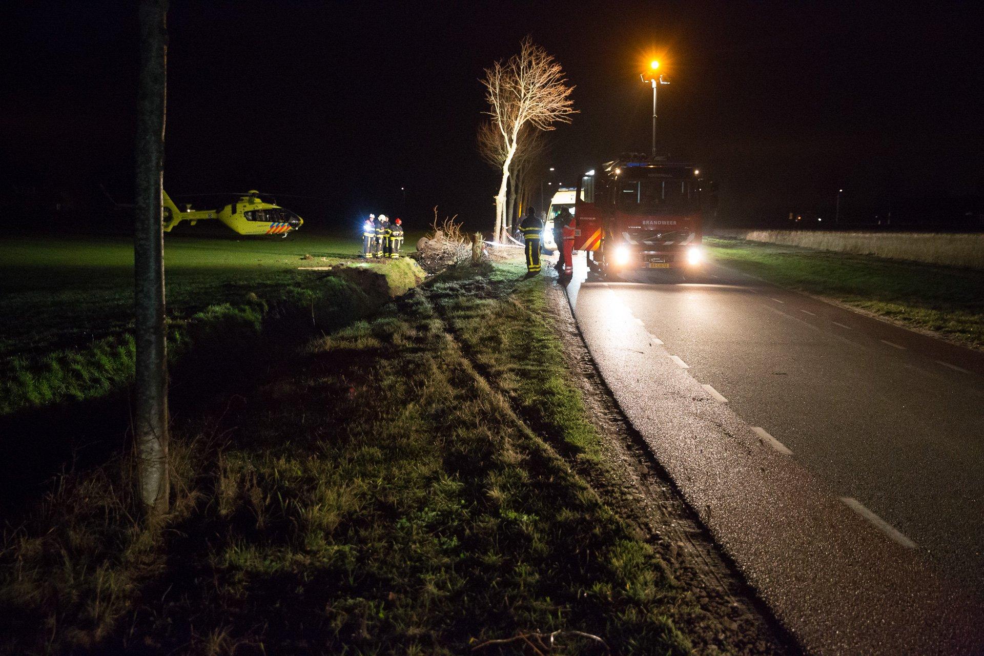 Twee gewonden bij zware crash op Bergsebaan in Roosendaal