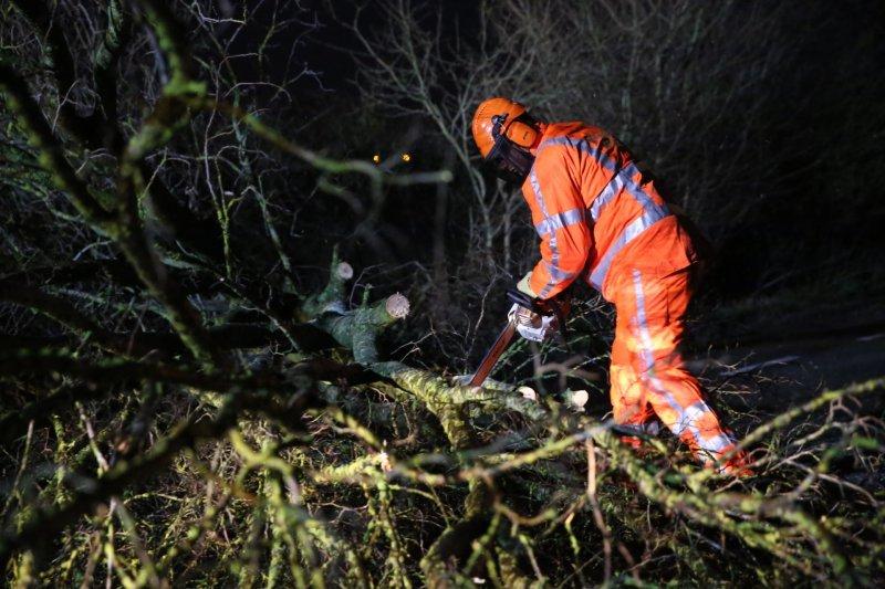 Eerste storm van 2018 raast over West-Brabant