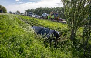 Twee gewonden bij ongeval op A58 bij Roosendaal