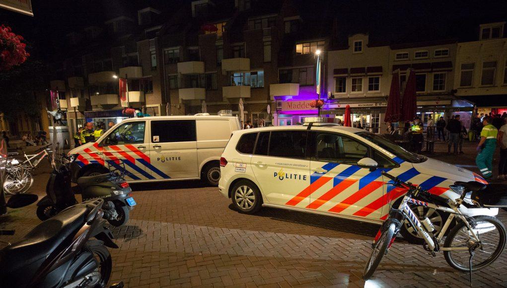 Politie op de Markt in Roosendaal