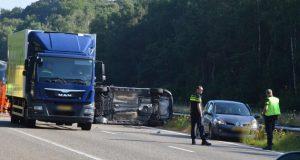 Dode bij ongeval op A4 bij Hoogerheide