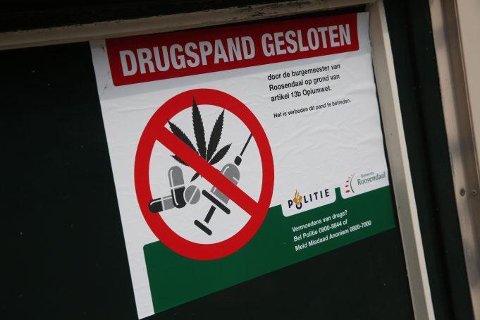 Drugspand gesloten