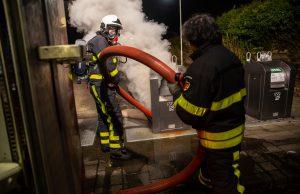Ondergrondse textielcontainer in brand in Roosendaal