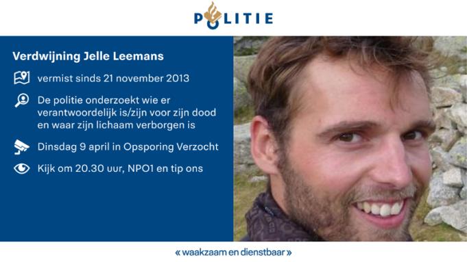 Verdwijning Jelle Leemans in Opsporing Verzocht