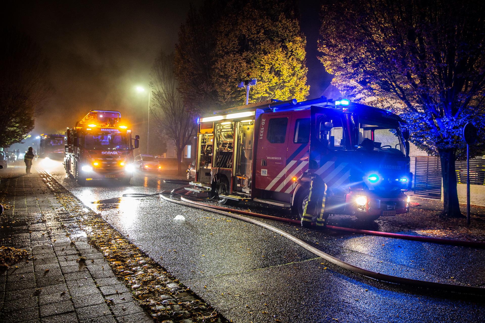Brand in leegstaande woning aan Wouwseweg in Roosendaal