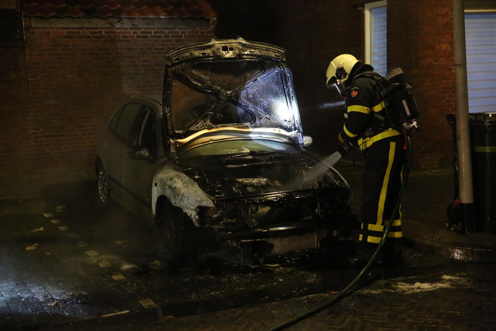 Auto uitgebrand in Bergen op Zoom