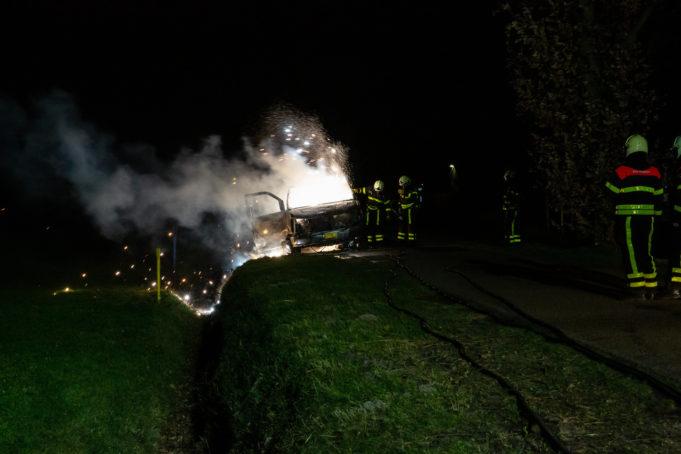 Kampeerwagen brandt volledig uit in Oudenbosch