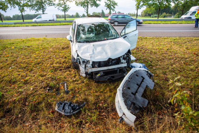 Man aangehouden na ongeval met letsel op A58 bij Sint Willebrord