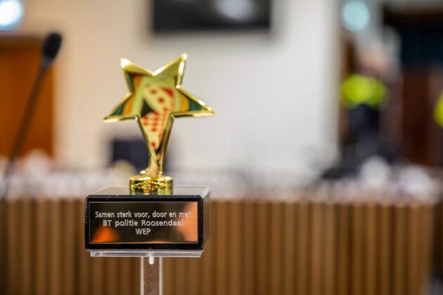 Speciale award voor het basisteam politie Roosendaal