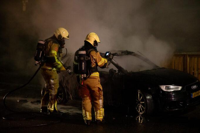 Auto uitgebrand aan Reginadonk in Roosendaal
