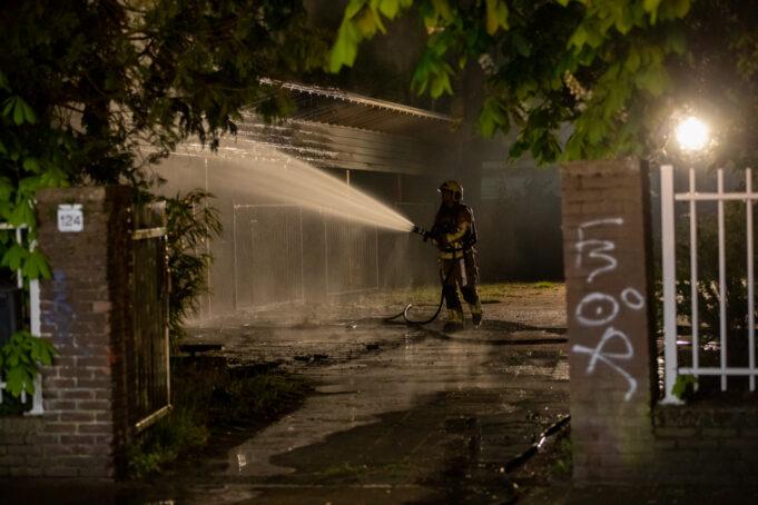Brand op voormalig schoolterrein in Roosendaal